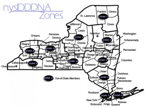 NYSIDDDNA Zone Map